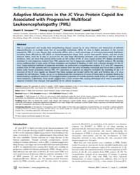 Plos Genetics : Adaptive Mutations in th... by Malik, Harmit S.