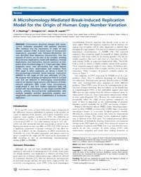Plos Genetics : a Microhomology-mediated... by Matic, Ivan