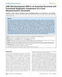 Plos Genetics : Line Retrotransposon Rna... by Bickmore, Wendy A.