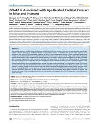 Plos Genetics : Epha2is Associated with ... by Heyningen, Veronica Van