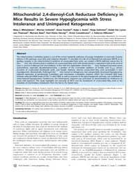 Plos Genetics : Mitochondrial 2,4-dienoy... by Wood, Philip A.