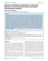 Plos Genetics : Evolution of Mutational ... by Malik, Harmit S.