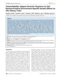 Plos Genetics : Caenorhabditis Elegansge... by Kim, Stuart K.
