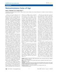 Plos Genetics : Neocentromeres Come of A... by Copenhaver, Gregory P.