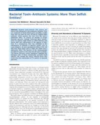 Plos Genetics : Bacterial Toxin–antitoxi... by Rosenberg, Susan M.
