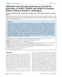 Plos Genetics : Gibberellin Acts Through... by Copenhaver, Gregory P.