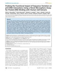 Plos Genetics : Probing the Functional I... by Barsh, Gregory S.