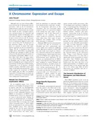 Plos Genetics : X Chromosome ; Expressio... by Malik, Harmit S.