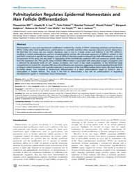 Plos Genetics : Palmitoylation Regulates... by Beier, David R.