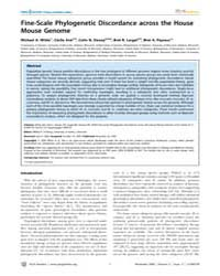 Plos Genetics : Fine-scale Phylogenetic ... by Schierup, Mikkel H.
