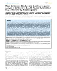 Plos Genetics : Maize Centromere Structu... by Malik, Harmit S.