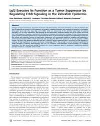 Plos Genetics : Lgl2 Executes Its Functi... by Mullins, Mary C.