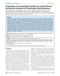 Plos Genetics : Acquisition of Aneuploid... by Madhani, Hiten D.
