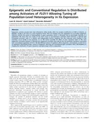 Plos Genetics : Epigenetic and Conventio... by Akhtar, Asifa