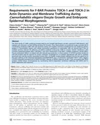 Plos Genetics : Requirements for F-bar P... by Chisholm, Andrew D.