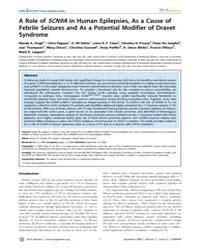 Plos Genetics : a Role of Scn9Ain Human ... by Frankel, Wayne N.