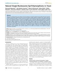 Plos Genetics : Natural Single-nucleosom... by Zhang, Jianzhi