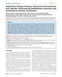 Plos Genetics : Replication Timing of Hu... by Haber, James E.