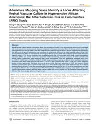 Plos Genetics : Admixture Mapping Scans ... by Pritchard, Jonathan K.