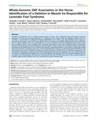 Plos Genetics : Whole-genome Snp Associa... by Barsh, Gregory S.