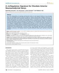 Plos Genetics : a Cis-regulatory Signatu... by Desplan, Claude