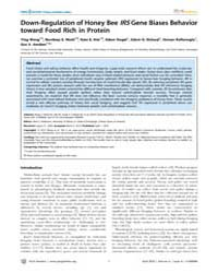 Plos Genetics : Down-regulation of Honey... by Robinson, Gene E.