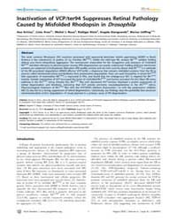 Plos Genetics : Inactivation of Vcp, Vol... by Daiger, Stephen P