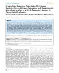 Plos Genetics : Extracellular Dopamine P... by Ashrafi, Kaveh