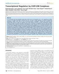 Plos Genetics : Transcriptional Regulati... by Perrimon, Norbert