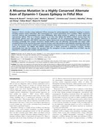 Plos Genetics : a Missense Mutation in a... by Barsh, Gregory S.