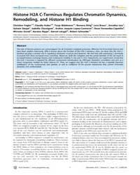 Plos Genetics : Histone H2A C-terminus R... by Ferguson-smith, Anne C.