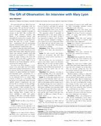 Plos Genetics : the Gift of Observation ... by Gitschier, Jane
