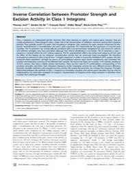 Plos Genetics : Inverse Correlation Betw... by Casadesu´s, Josep