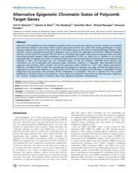 Plos Genetics : Alternative Epigenetic C... by Akhtar, Asifa