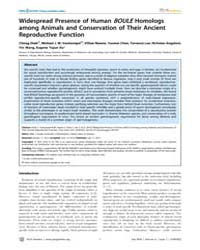 Plos Genetics : Widespread Presence of H... by Swalla, Billie J.