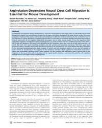 Plos Genetics : Arginylation-dependent N... by Bronner-fraser, Marianne