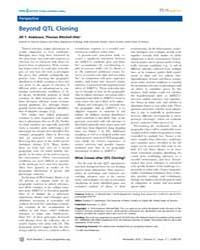 Plos Genetics : Beyond Qtl Cloning, Volu... by Copenhaver, Gregory P.