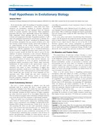 Plos Genetics : Frail Hypotheses in Evol... by Matic, Ivan