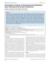 Plos Genetics : Perturbation Analysis of... by Akhtar, Asifa