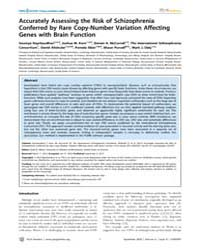 Plos Genetics : Accurately Assessing the... by Allison, David B.