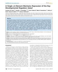 Plos Genetics : a Single Cis Element Mai... by Heyningen, Veronica Van