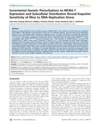 Plos Genetics : Incremental Genetic Pert... by Frankel, Wayne N.