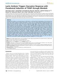 Plos Genetics : Lactic Acidosis Triggers... by Gibson, Greg