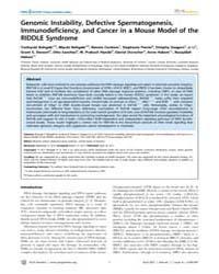 Plos Genetics : Genomic Instability, Def... by Lichten, Michael