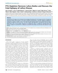 Plos Genetics : Ptg Depletion Removes La... by Frankel, Wayne N.