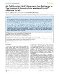 Plos Genetics : Nk Cell Receptor, Volume... by Roopenian, Derry C.