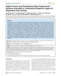Plos Genetics : Highly Precise and Devel... by Copenhaver, Gregory P.
