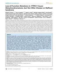 Plos Genetics : Loss-of-function Mutatio... by Wilkie, Andrew O. M.