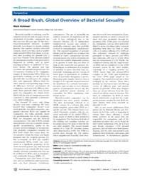 Plos Genetics : a Broad Brush, Global Ov... by Achtman, Mark