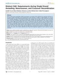 Plos Genetics : Distinct Cdk1 Requiremen... by Biggins, Sue